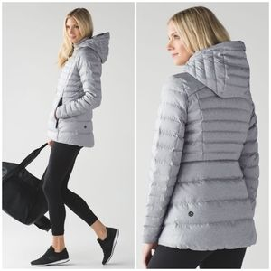 Rare Lululemon Down For It Puffy Jacket Silver